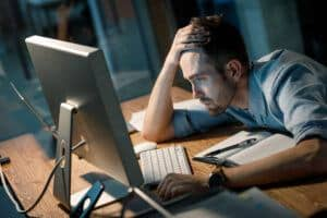 working late can cause sleep deprivation